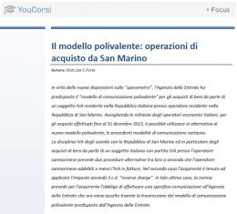 Il modello polivalente: operazioni di acquisto da San Marino