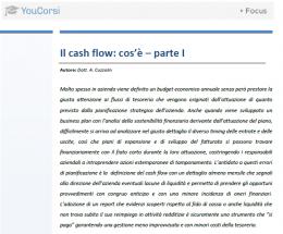 Il cash flow: cos'è - parte I