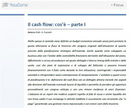 Il cash flow: cos'è - parte I