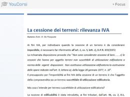 La cessione di terreni: rilevanza IVA