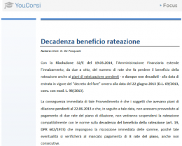 Decadenza del beneficio di rateazione