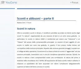 Sconti commerciali in natura