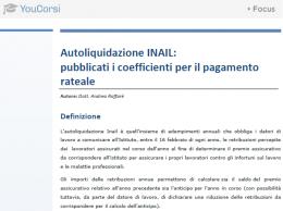 Coefficienti autoliquidazione INAIL 2013/2014