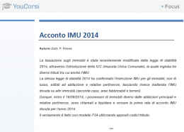 L'acconto IMU 2014