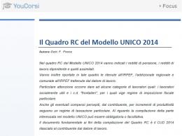 Il quadro RC del modello UNICO 2014
