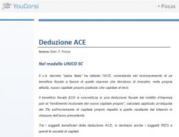 L'ACE e il modello unico SC