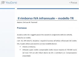 Il credito IVA trimestrale: il modello TR