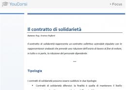 Il contratto di solidarietà