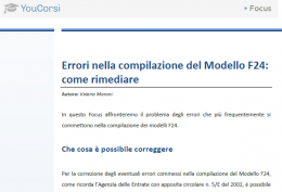 Errori nel modello F24: Come rimediare