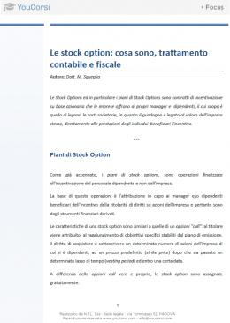 Stock options: cosa sono, trattamento contabile e fiscale
