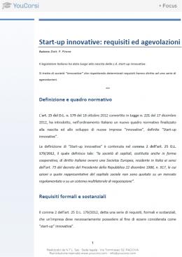 Start-up innovative: requisiti e agevolazioni