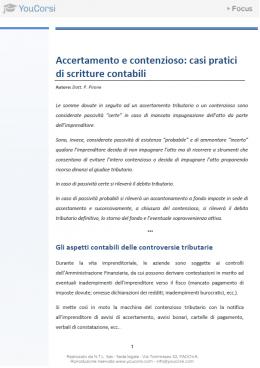 Accertamento fiscale: casi pratici di scritture contabili