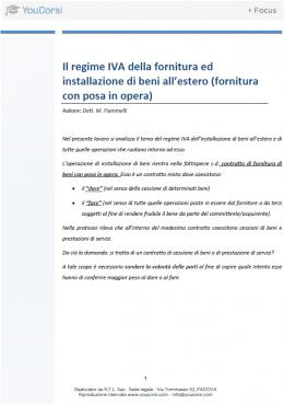 Il regime IVA della fornitura ed installazione di beni all'estero (fornitura con posa in opera)