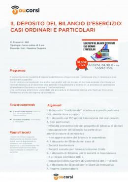 Il Deposito del Bilancio d'Esercizio - casi ordinari e particolari