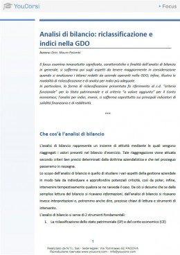 Analisi di bilancio: riclassificazione e indici nella GDO