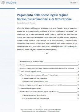 Pagamento delle spese legali: regime fiscale, flussi finanziari e di fatturazione