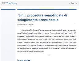 S.r.l: procedura semplificata di scioglimento senza notaio