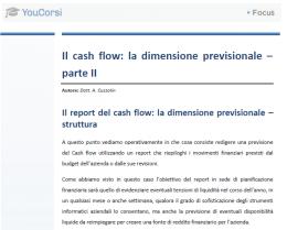 Il cash flow : la dimensione previsionale - parte II