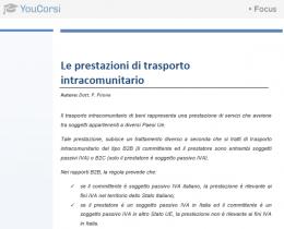 Le prestazioni di trasporto intracomunitario