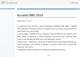 L'acconto IMU 2014