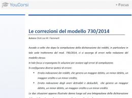 Le correzioni del modello 730/2014