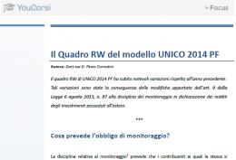 Investimenti all'estero nel quadro RW di UNICO 2014
