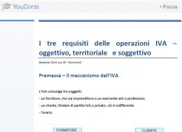 I requisiti delle operazioni IVA