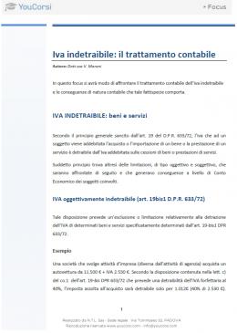 IVA indetraibile: trattamento contabile