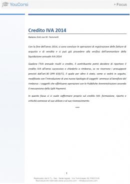 Credito IVA 2014