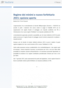 Regime dei minimi e nuovo forfettario 2015: opzione aperta