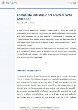 Contabilità industriale per centri di costo nella GDO